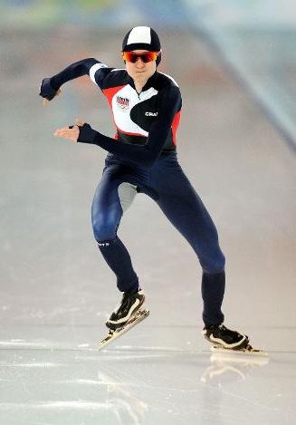 Мартина Сабликова на дистанции 5000 м.