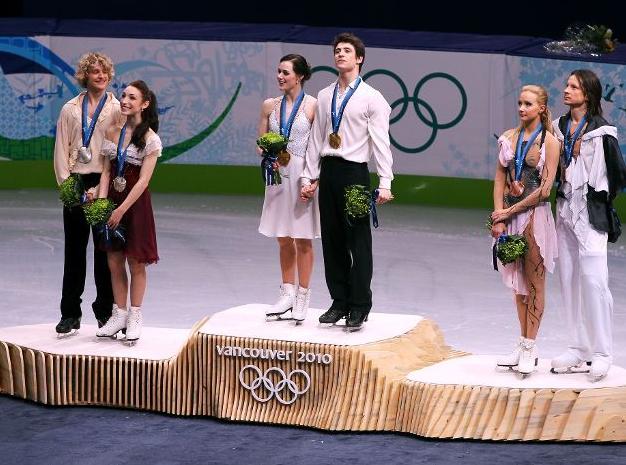 Олимпиада 2010. Танцы на льду. Церемония награждения.