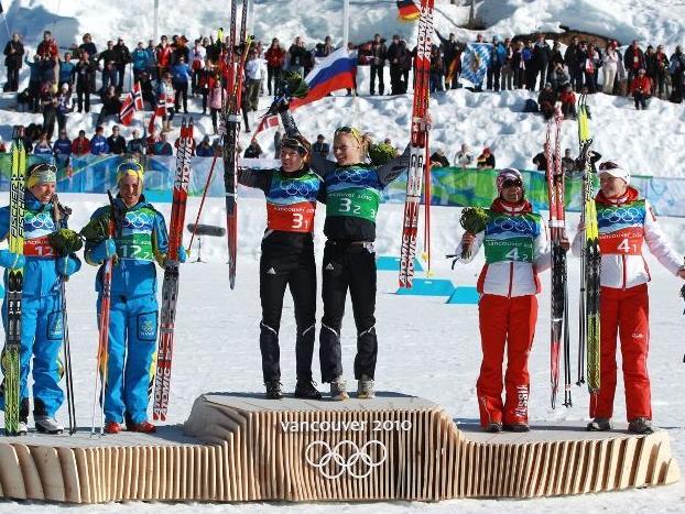 Олимпиада 2010. Цветочная церемония. Командный спринт. Женщины